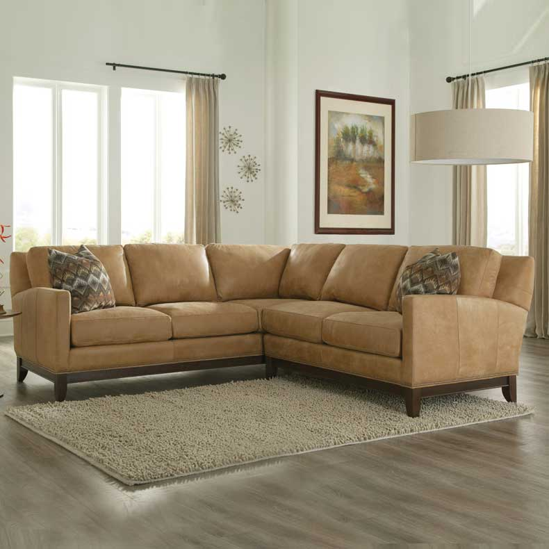 238 Sectional - Leather