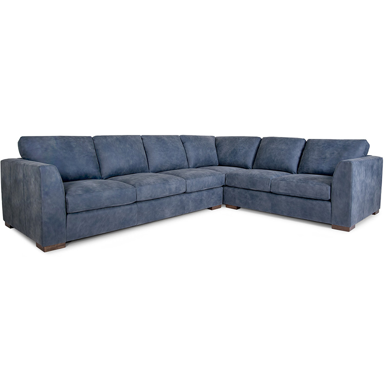 257 Sectional - Leather