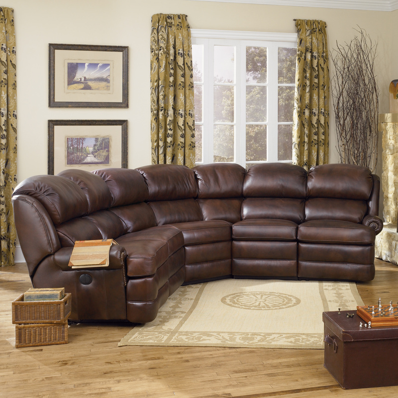 Amish 412 Reclining Sectional - Leather | Amish Furniture | Shipshewana Furniture Co.