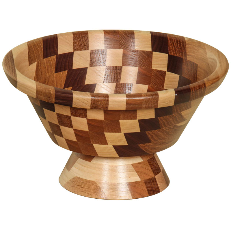 Wooden Bowl with Foot