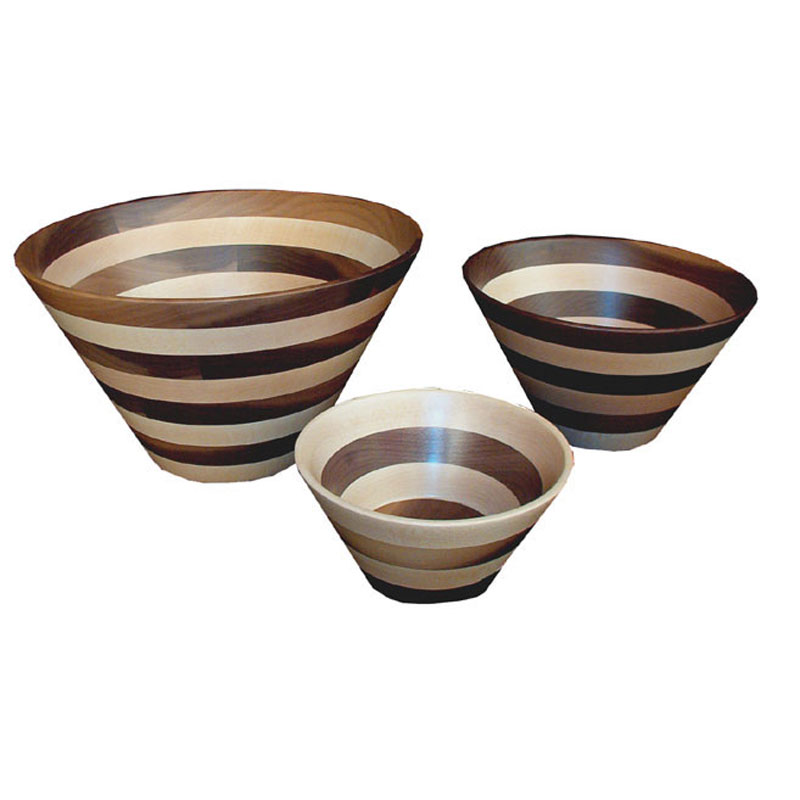 Wooden Bowl - Striped