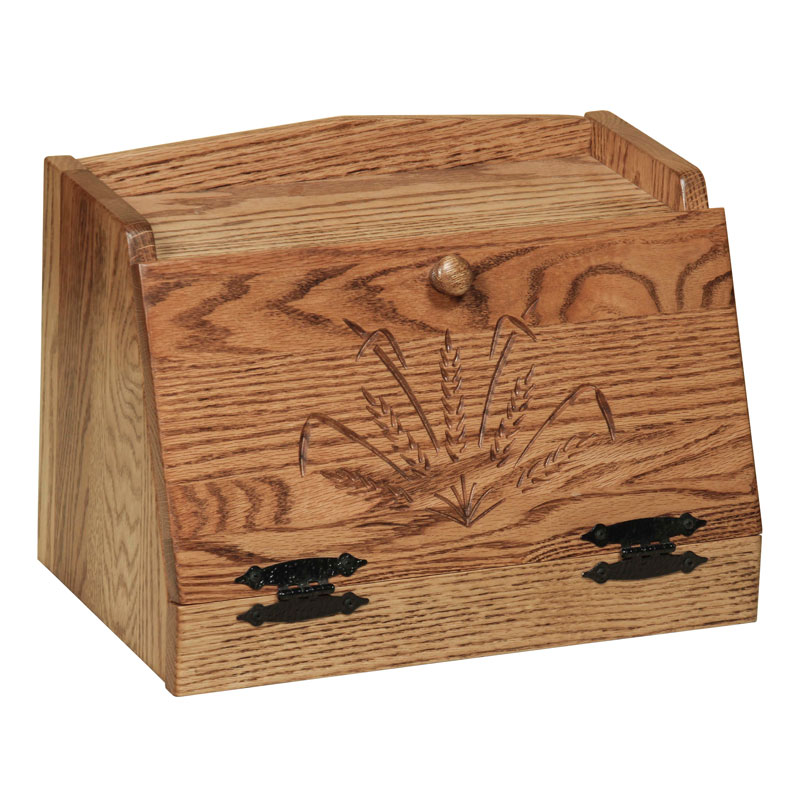 Bread Box with Wheat