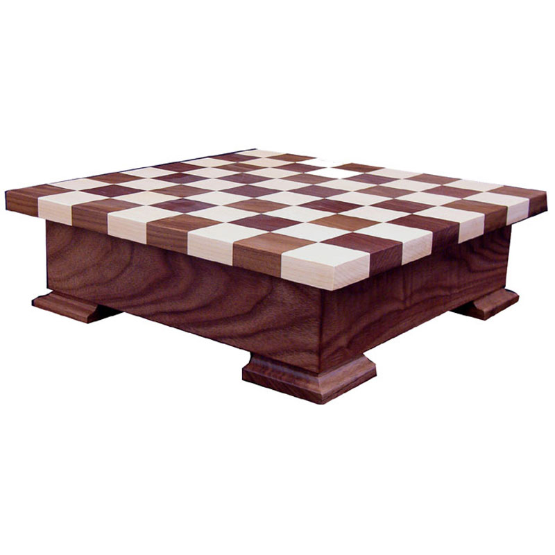 Checker Board w/ Base and wooden pieces