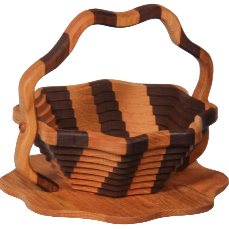 Collapsible Basket - Lotus / Striped