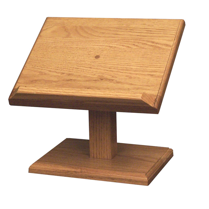 Cookbook/Bible Stand - Large Oak