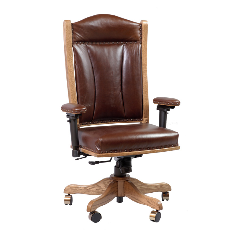 Amish Desk Chair with Adjustable Arms | Amish Furniture | Shipshewana Furniture Co.