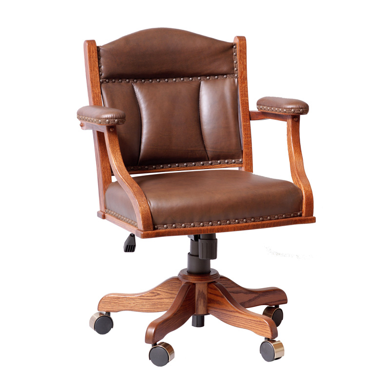 Amish Low Back Desk Arm Chair | Amish Furniture | Shipshewana Furniture Co.