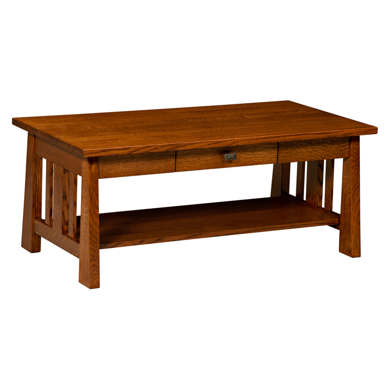 Amish Freemont Mission Open Coffee Table | Amish Furniture | Shipshewana Furniture Co.