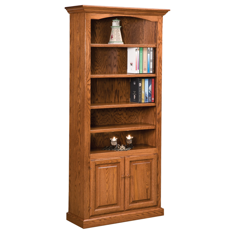 Hoosier Heritage 4 Shelf, 2 Door Bookcase
