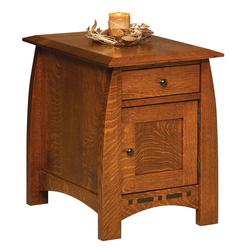 Amish Boulder Creek Enclosed End Table Amish Furniture Shipshewana
