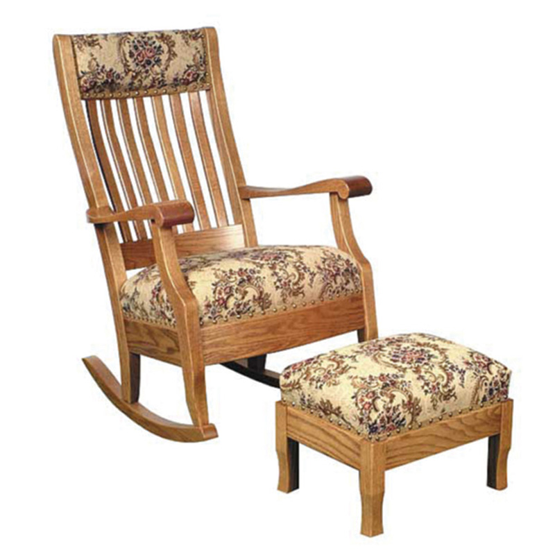 Amish Grandmas Rocker / Footstool | Amish Furniture | Shipshewana Furniture Co.