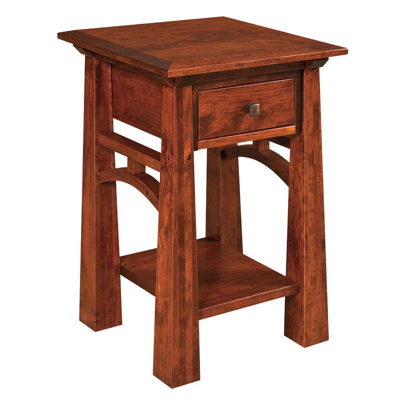 Amish Artesa 1 Drawer Open Nightstand | Amish Furniture | Shipshewana Furniture Co.