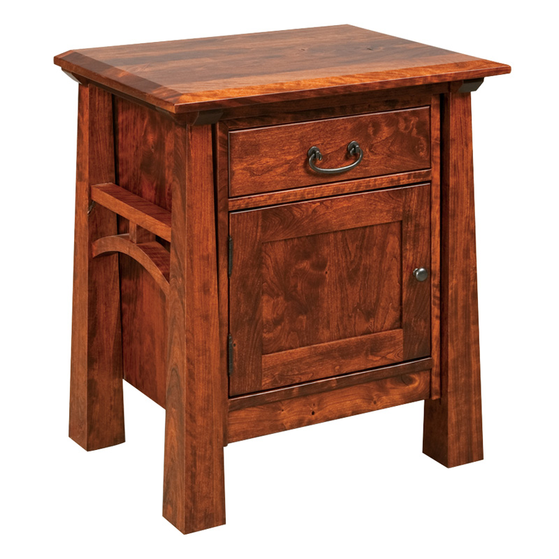 Amish Artesa 1 Drawer 1 Door Nightstand | Amish Furniture | Shipshewana Furniture Co.