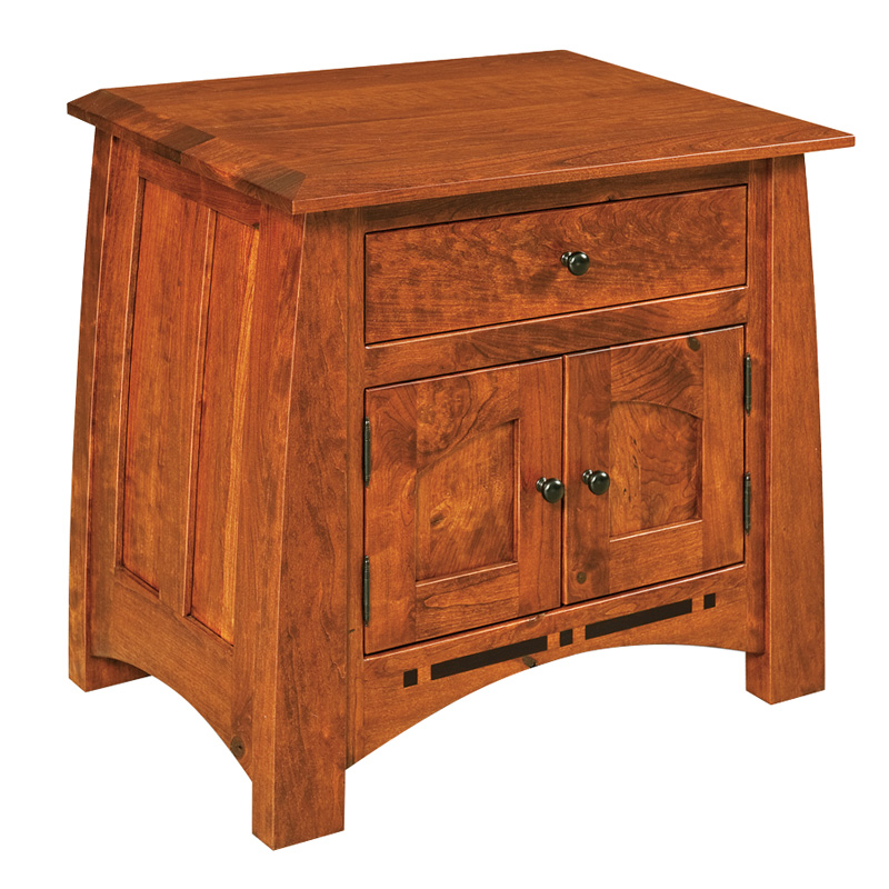 "Amish Boulder Creek 1 Drawer, 2 Door Nightstand 26""H 