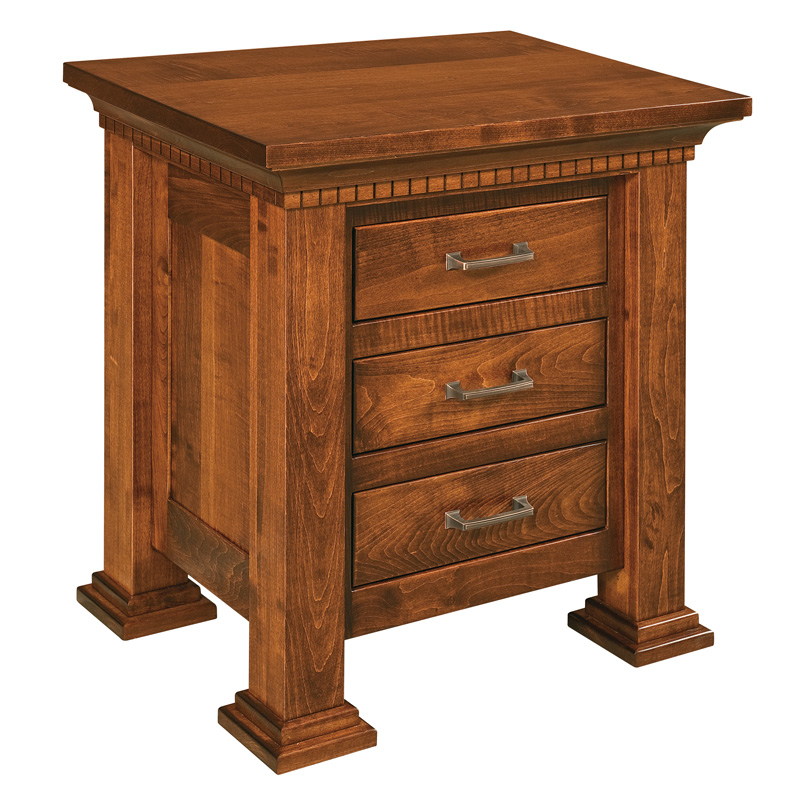 "Empire 3 Drawer Nightstand 28-1/4""H"