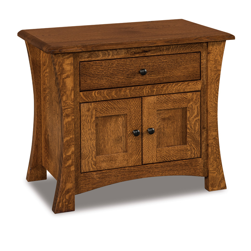 "Matison 1 Drawer, 2 Door Nightstand 25""H"
