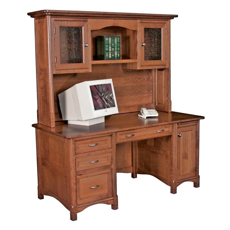 Amish West Lake Straight Desk | Amish Furniture | Shipshewana Furniture Co.