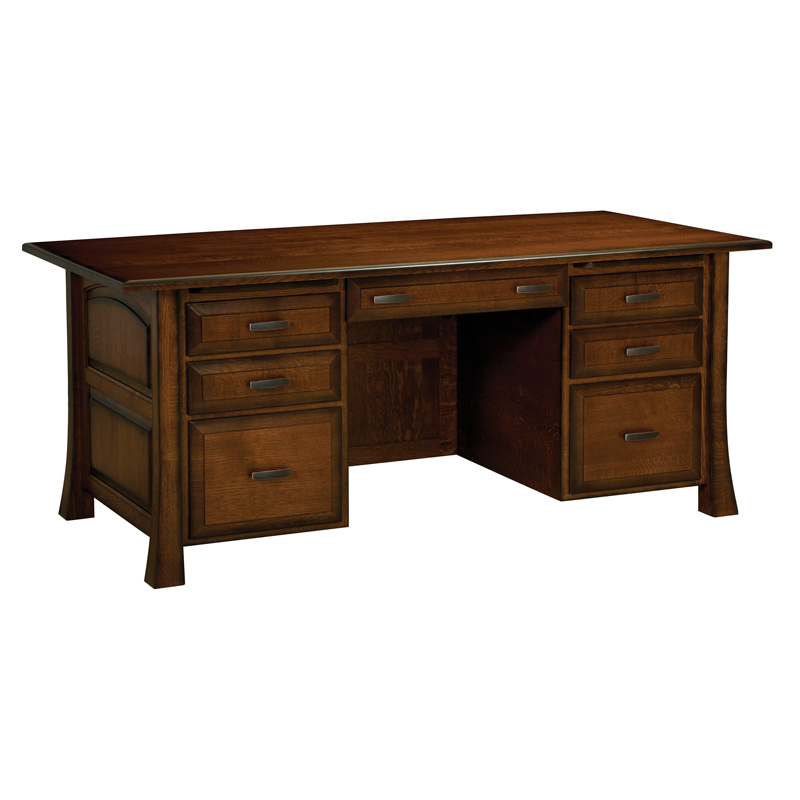 Amish Olde Century Executive Desk | Amish Furniture | Shipshewana Furniture Co.