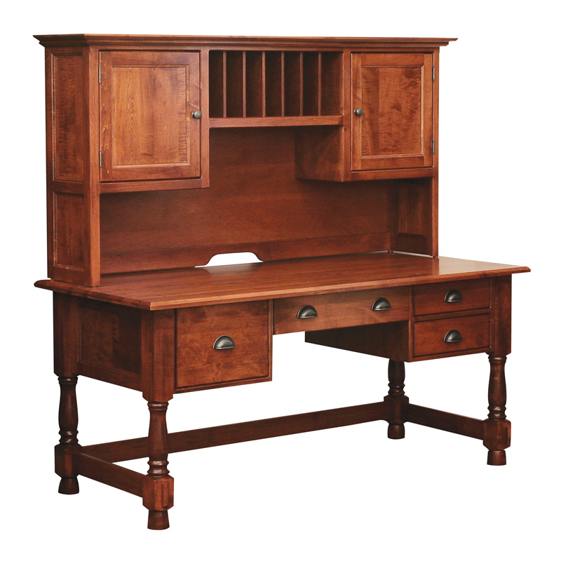 Amish Lincoln Computer Desk | Amish Furniture | Shipshewana Furniture Co.