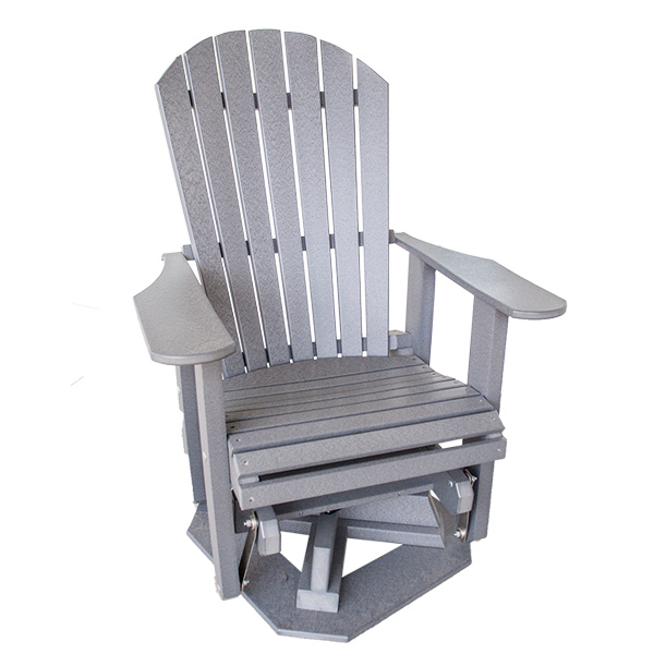 Adirondack Swivel GliderAmish Outdoor Polyvinyl  Amish Furniture   Shipshewana Furniture Co . Adirondack Furniture Company. Home Design Ideas