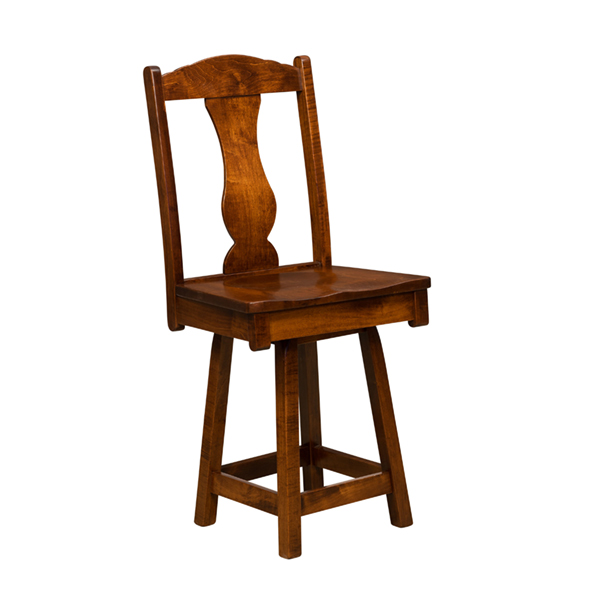 Amish Amsterdam Bar Stool - Swivel | Amish Furniture | Shipshewana Furniture Co.