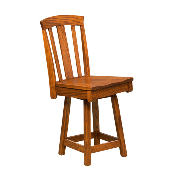 Amish Artisan Bluffton Bar Stool - Swivel | Amish Furniture | Shipshewana Furniture Co.