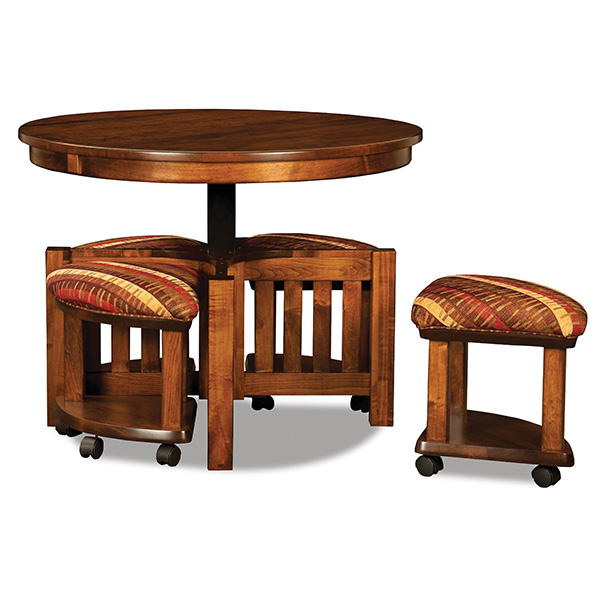 5 Pc Round Table Bench Set