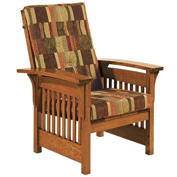 bow arm slat chair - Mission Style Recliner