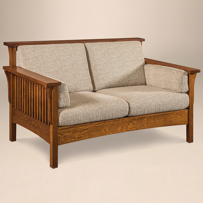 High Back Slat Loveseat