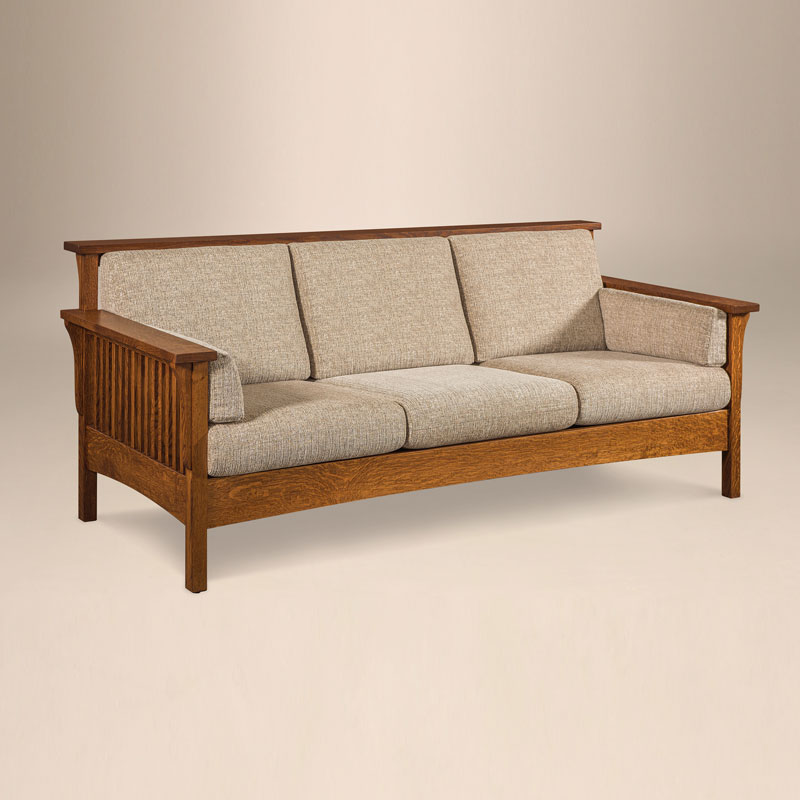 High Back Slat Sofa