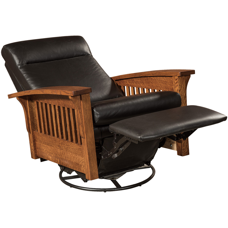 Amish Hoosier Swivel Gliding Recliner | Amish Furniture | Shipshewana Furniture Co.