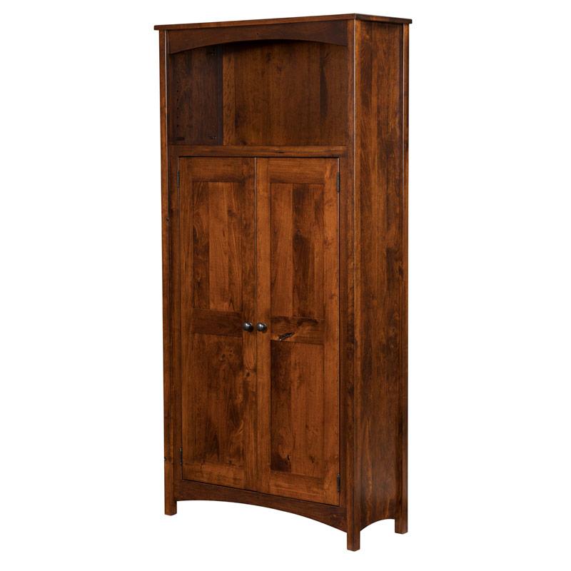 Carolina Bookcase W/ Doors   Rustic Cherry