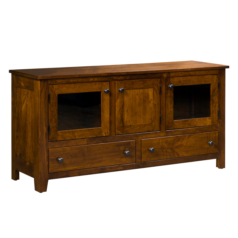 "TV Cabinet 60""W - Rustic Cherry"