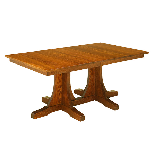Shasta Mission Double Pedestal Table