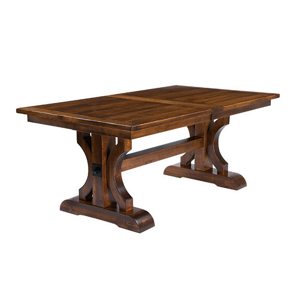 Amish Dining Tables Furniture Amish Dining Tabless Amish Furniture - Square trestle dining table