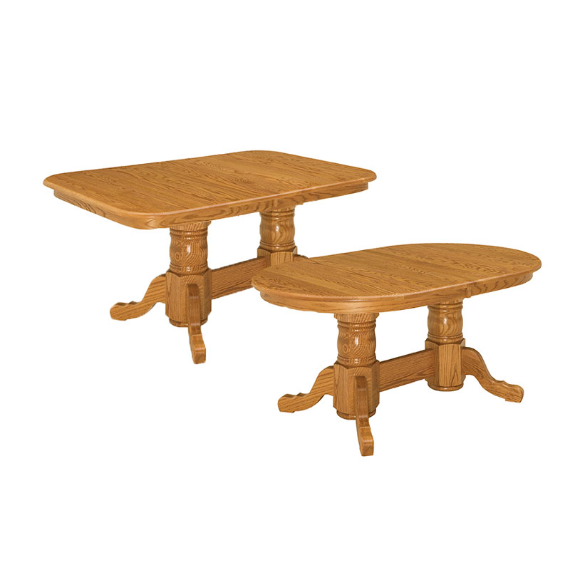 Shasta Double Pedestal Extension Tables