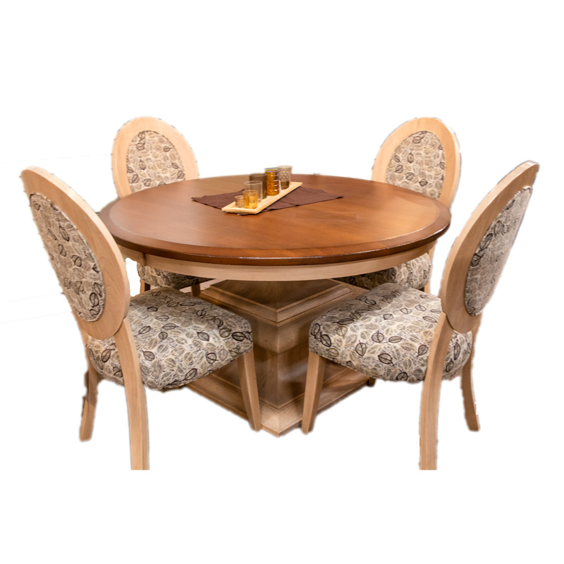 Norton Table with 4 Roseburg Chairs