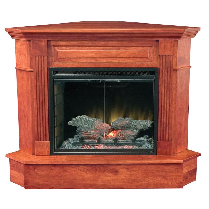 More Information · Amish Charleston Corner Fireplace | Amish Furniture |  Shipshewana Furniture Co.