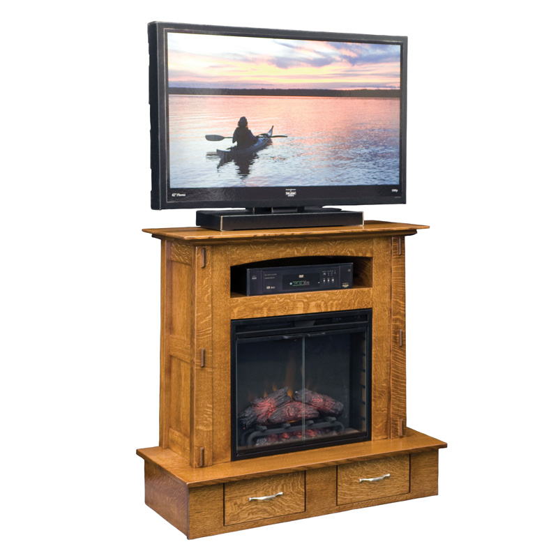 Modesto Fireplace with Entertainment Storage