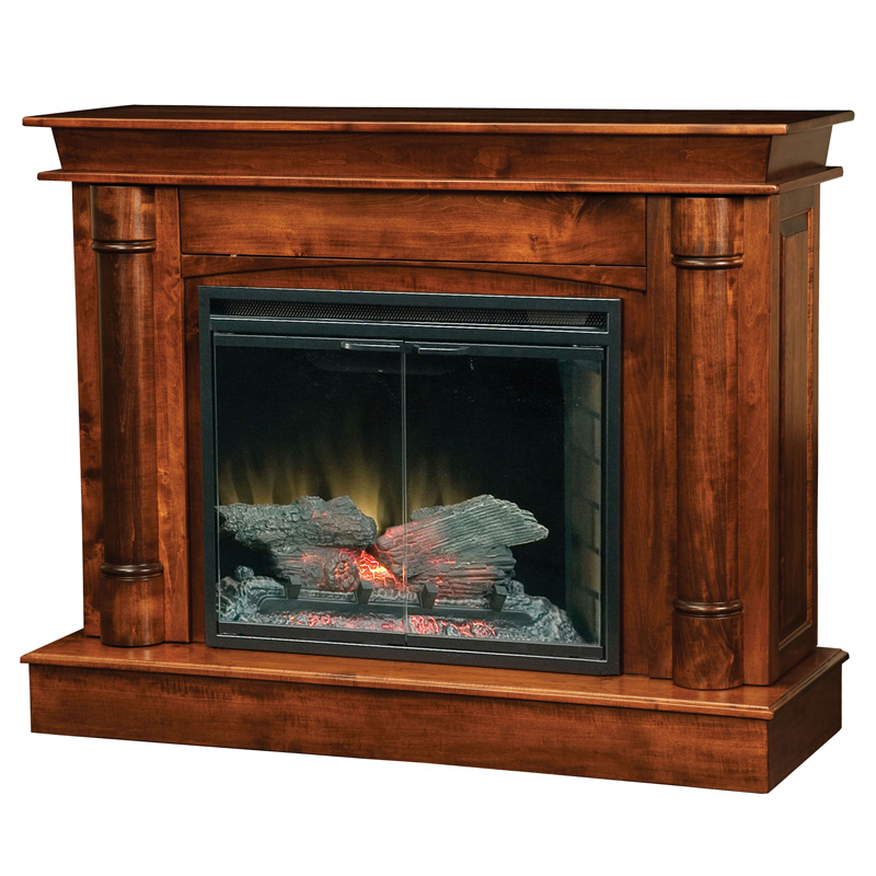 Regal Fireplace with Entertainment Storage