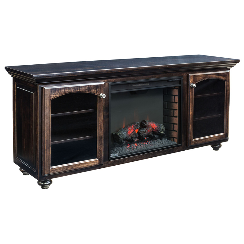 Amish Wyndam Fireplace Entertainment Console | Amish Furniture | Shipshewana Furniture Co.