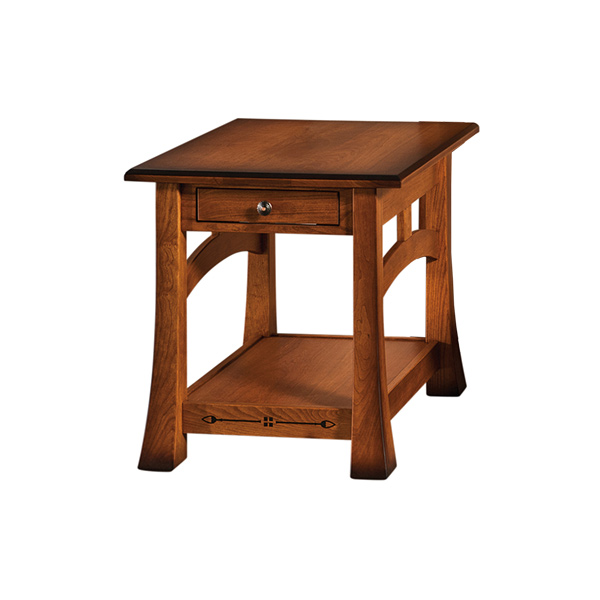 "Amish Burrough End Table 23""W 