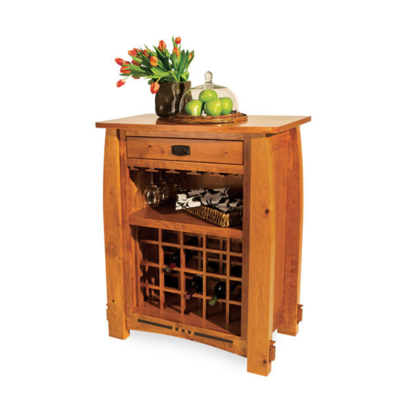 Amish Canyon Wine Cabinet | Amish Furniture | Shipshewana Furniture Co.