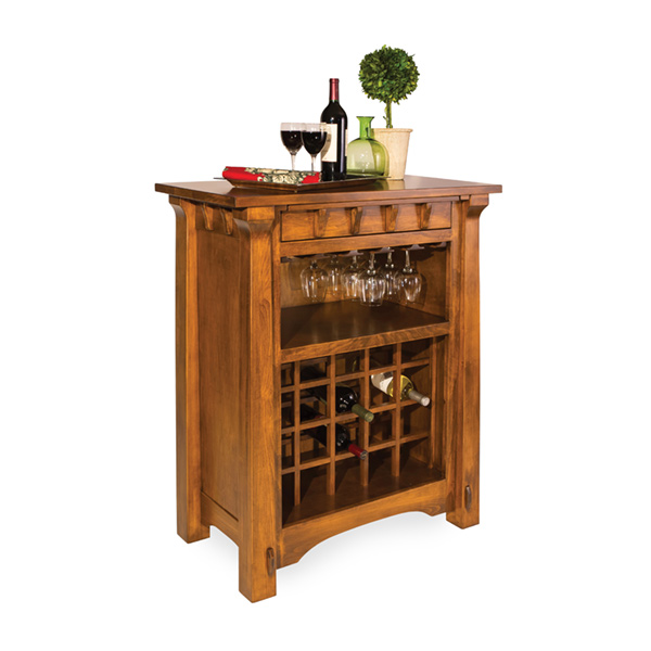 Amish Miriam Wine Cabinet | Amish Furniture | Shipshewana Furniture Co.