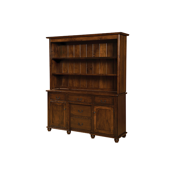 Amish Ava Open Hutch | Amish Furniture | Shipshewana Furniture Co.