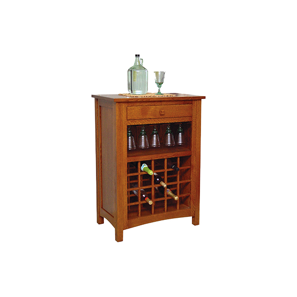Amish Noble Wine Cabinet | Amish Furniture | Shipshewana Furniture Co.