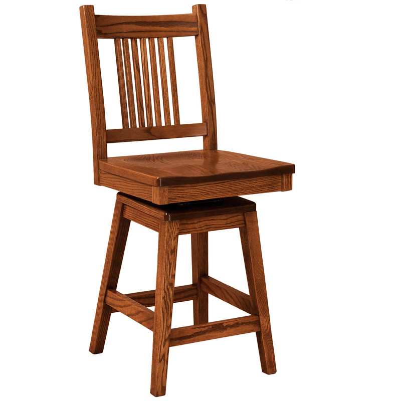 more information amish corinthian swivel barstool amish furniture shipshewana furniture co