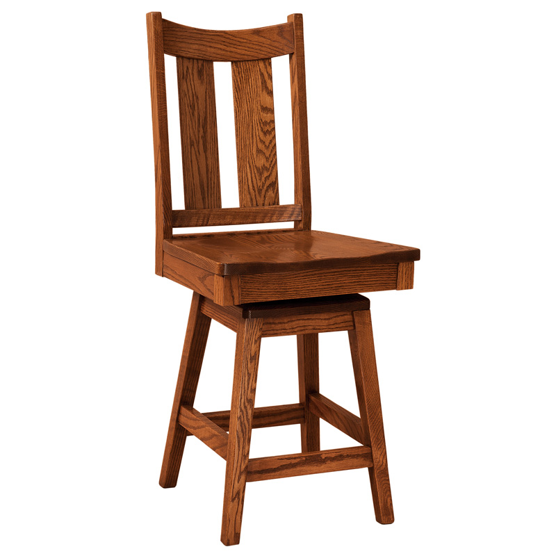 Amish Addison Swivel Barstool | Amish Furniture | Shipshewana Furniture Co.