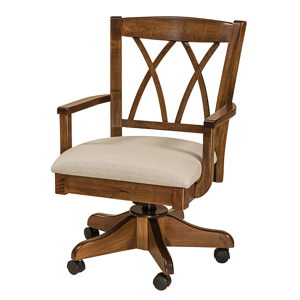 Amish Atkinson Desk Chair | Amish Furniture | Shipshewana Furniture Co.