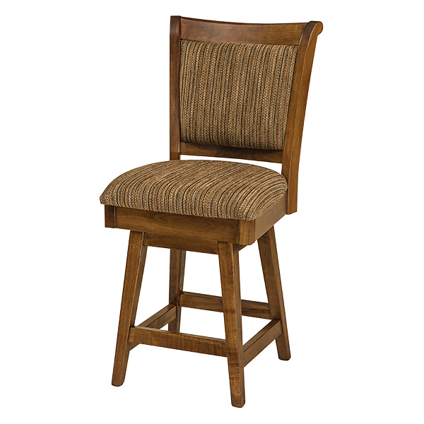 Amish Ames Swivel Barstool | Amish Furniture | Shipshewana Furniture Co.